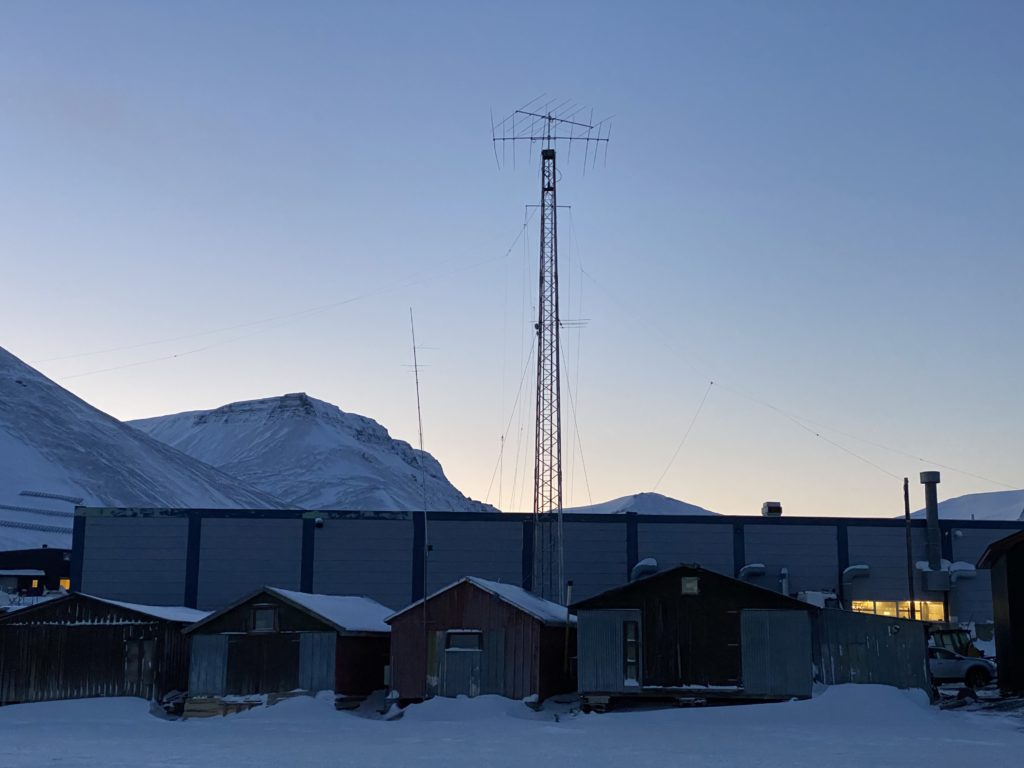 Clubhut and antenna view from north
